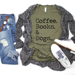 Coffee Books & Dogs-Plus Sizes