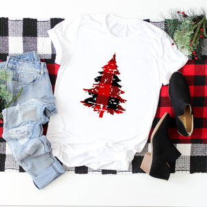 Distressed Plaid Tree-Plus Sizes