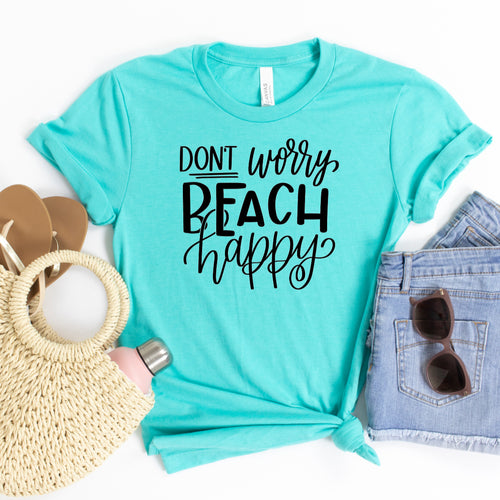 Don't Worry Beach Happy-Plus Sizes