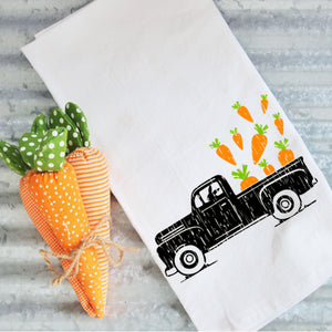 Tea Towels- Easter On the Farm Truck, Graphic Tea Towels