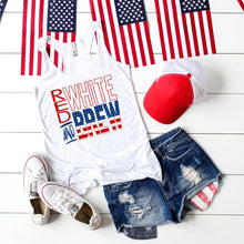 Red White and Brew -Racer back Tank Top