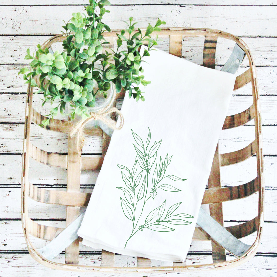 Tea Towels- Greenery!