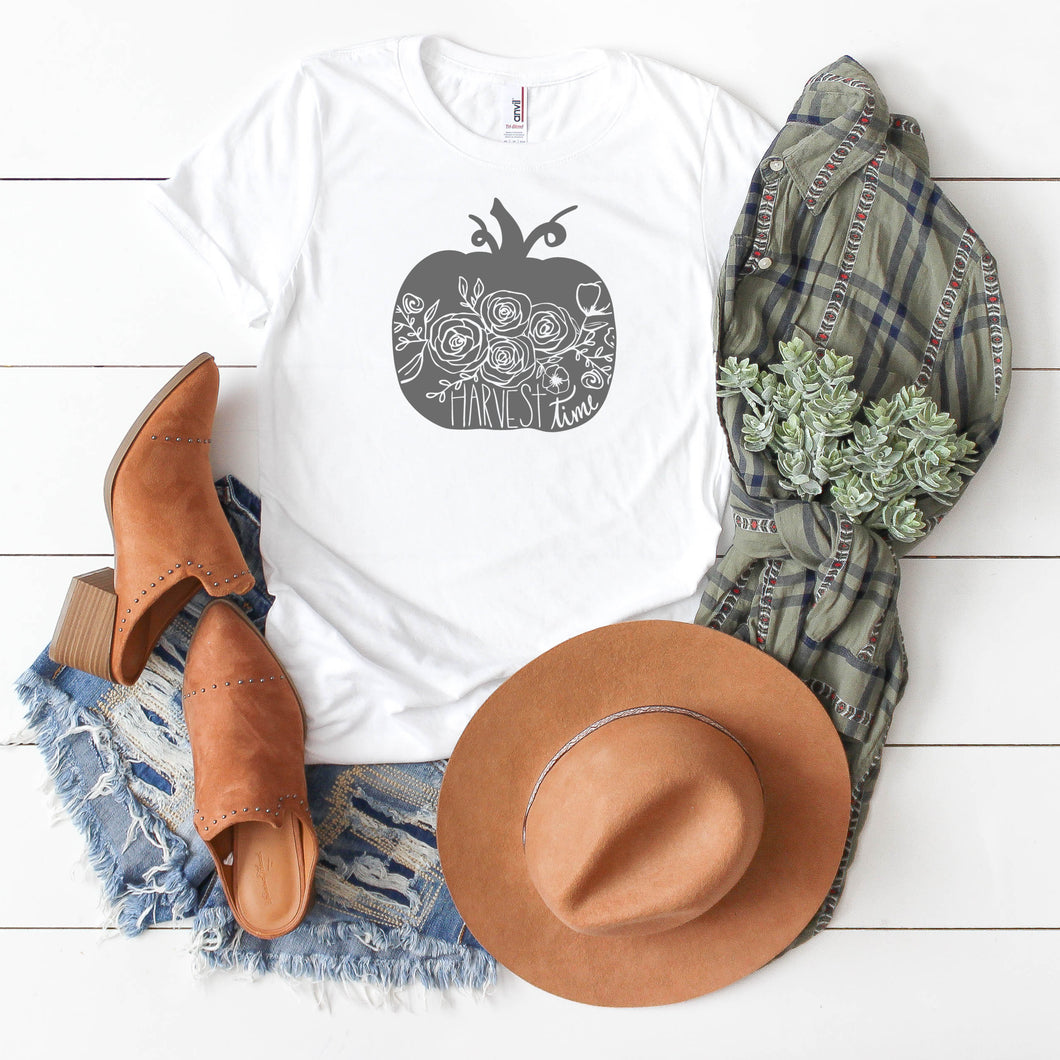 Grey Harvest Time Pumpkin-Plus Sizes