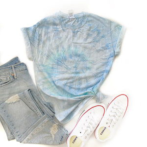 Fun Tie-Dye Tee-Ice Blue