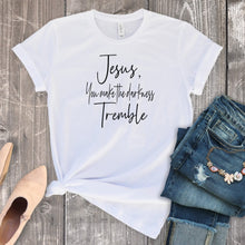 Jesus, You Make The Darkness Tremble-Plus Sizes