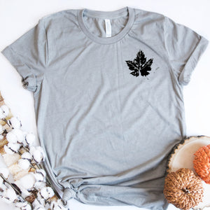 Mini Distressed Black Leaf-Plus Sizes