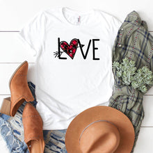Love With Distressed Arrow Heart-Plus Sizes