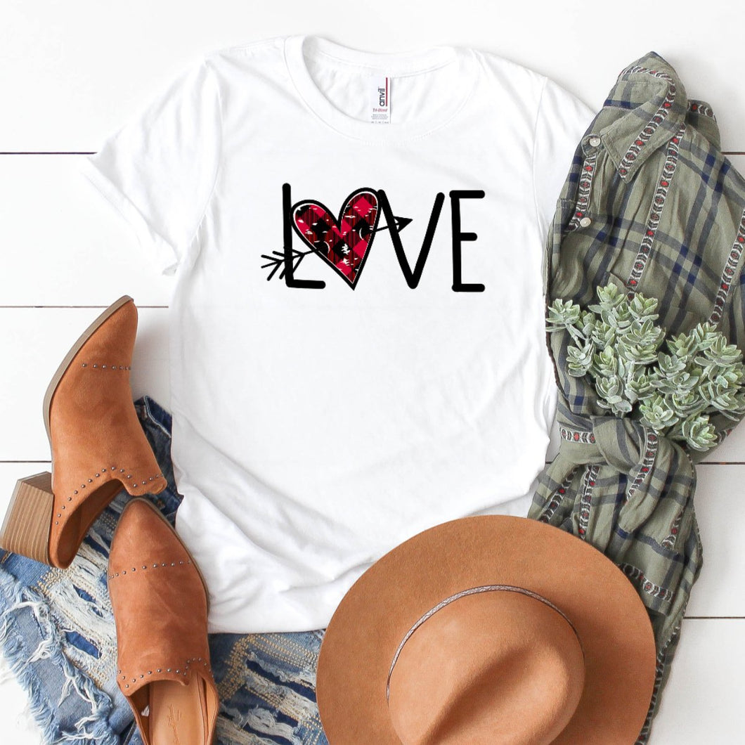 Love With Distressed Arrow Heart