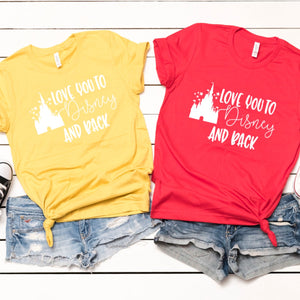 Love You To Disney And Back-Plus Sizes