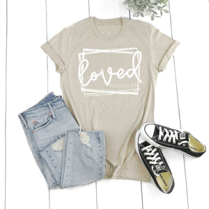 Loved Romans 5:8-Plus Sizes