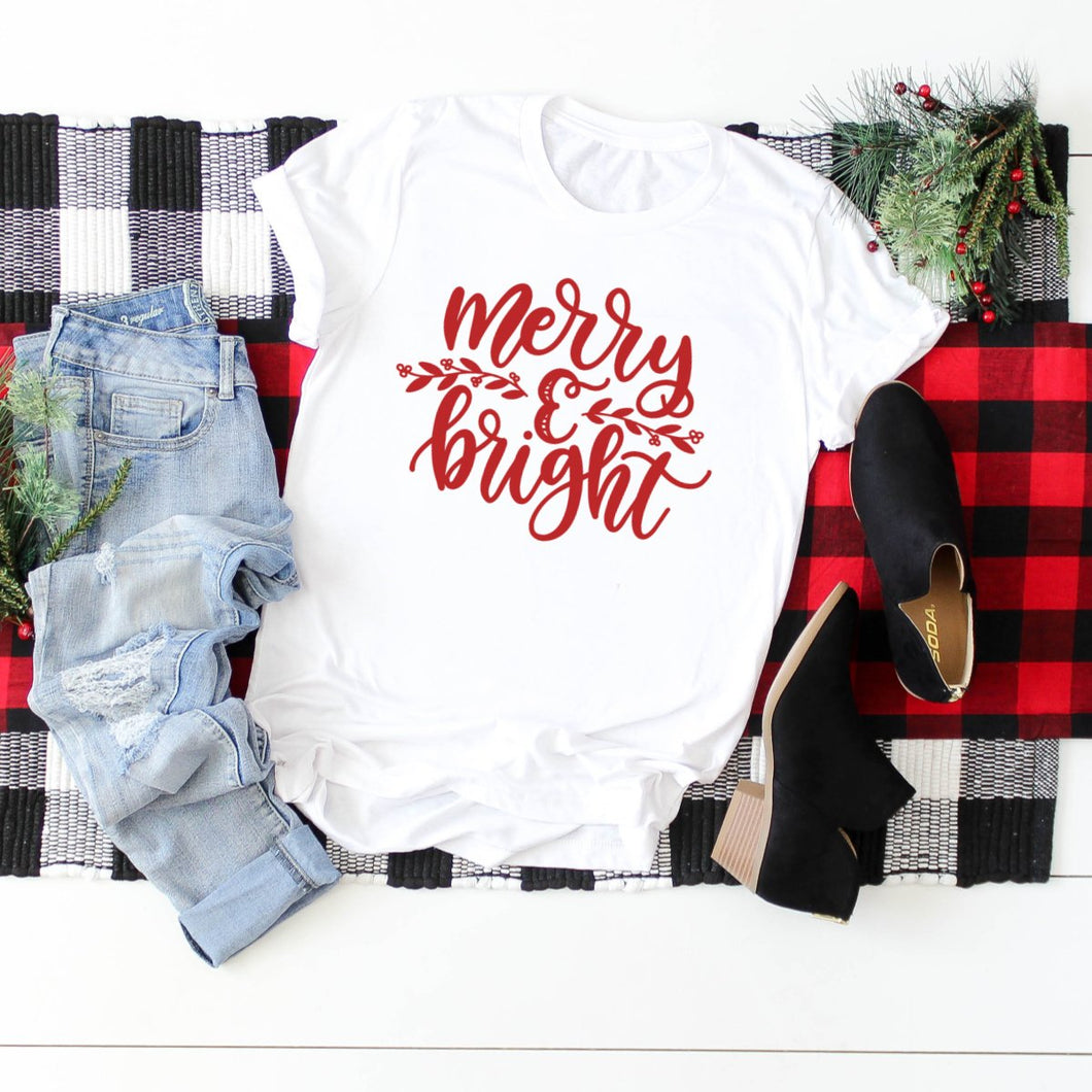 Red Merry & Bright-Plus Sizes