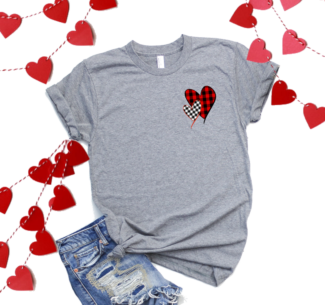 Mini 2 Plaid Hearts-Plus Sizes