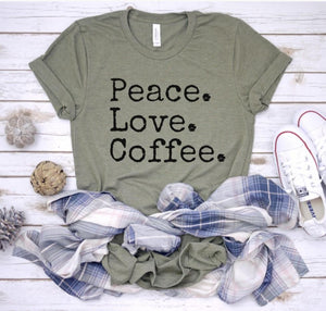 Peace. Love. Coffee.-Plus Size