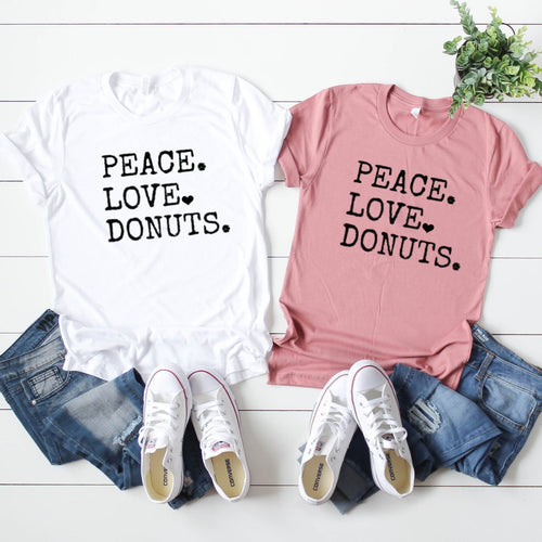 Peace. Love. Donuts.-Plus Size