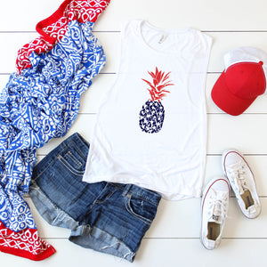 4th of July Graphic T_Shirt! Pineapple!