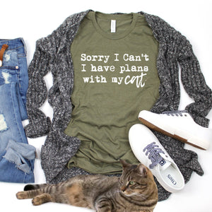 Sorry I Can't I Have Plans With My Cat-Plus Sizes