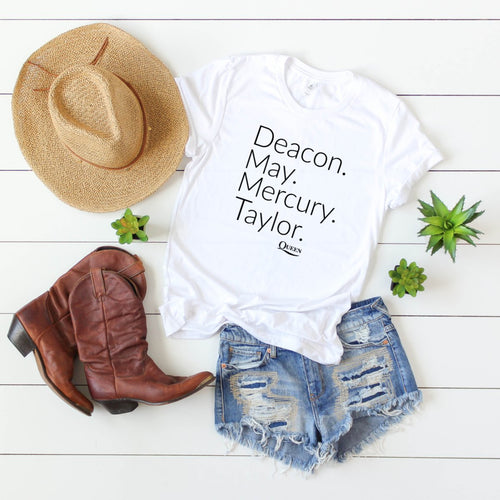 Deacon. May. Mercury. Taylor. Queen-Plus Sizes