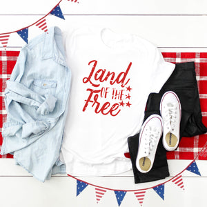 4th of July Graphic T_Shirt! Land of the Free!