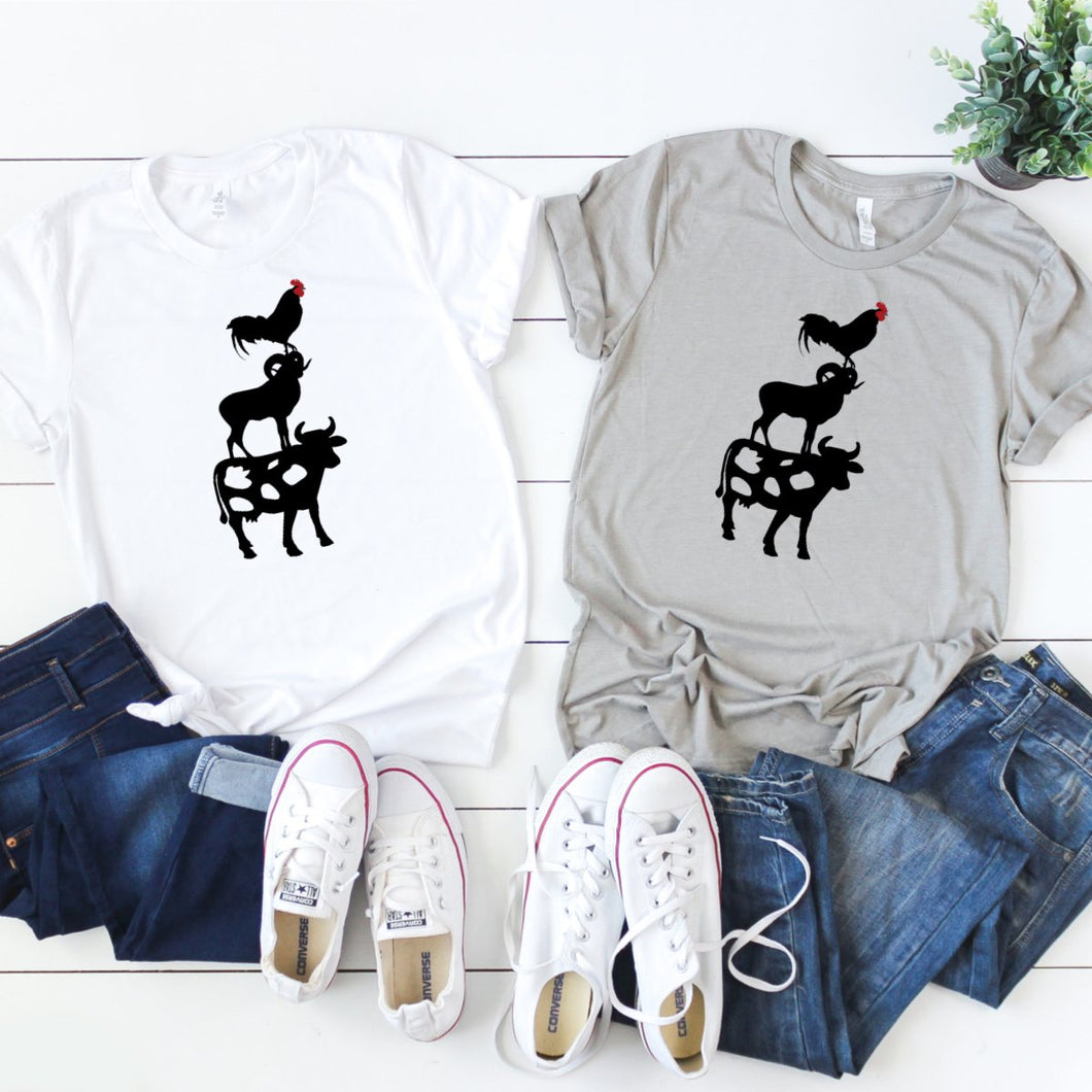 Cow Ram Rooster-Plus Sizes