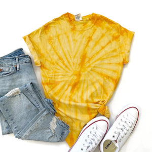 Fun Tie-Dye Tee-Spider Gold