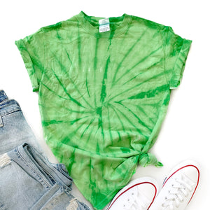 Tie-Dye Tee- Spider Lime