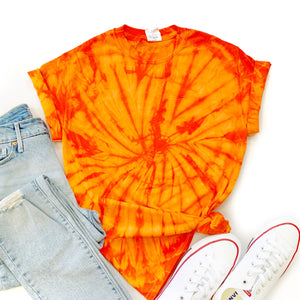 Fun Tie-Dye Tee-Spider Orange