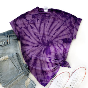 Fun Tie-Dye Tee-Spider Purple