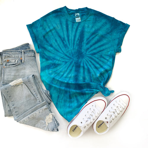 Fun Tie-Dye Tee-Spider Turquoise