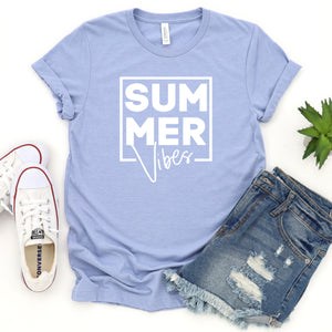 Summer Vibes Square (White)-Plus Sizes