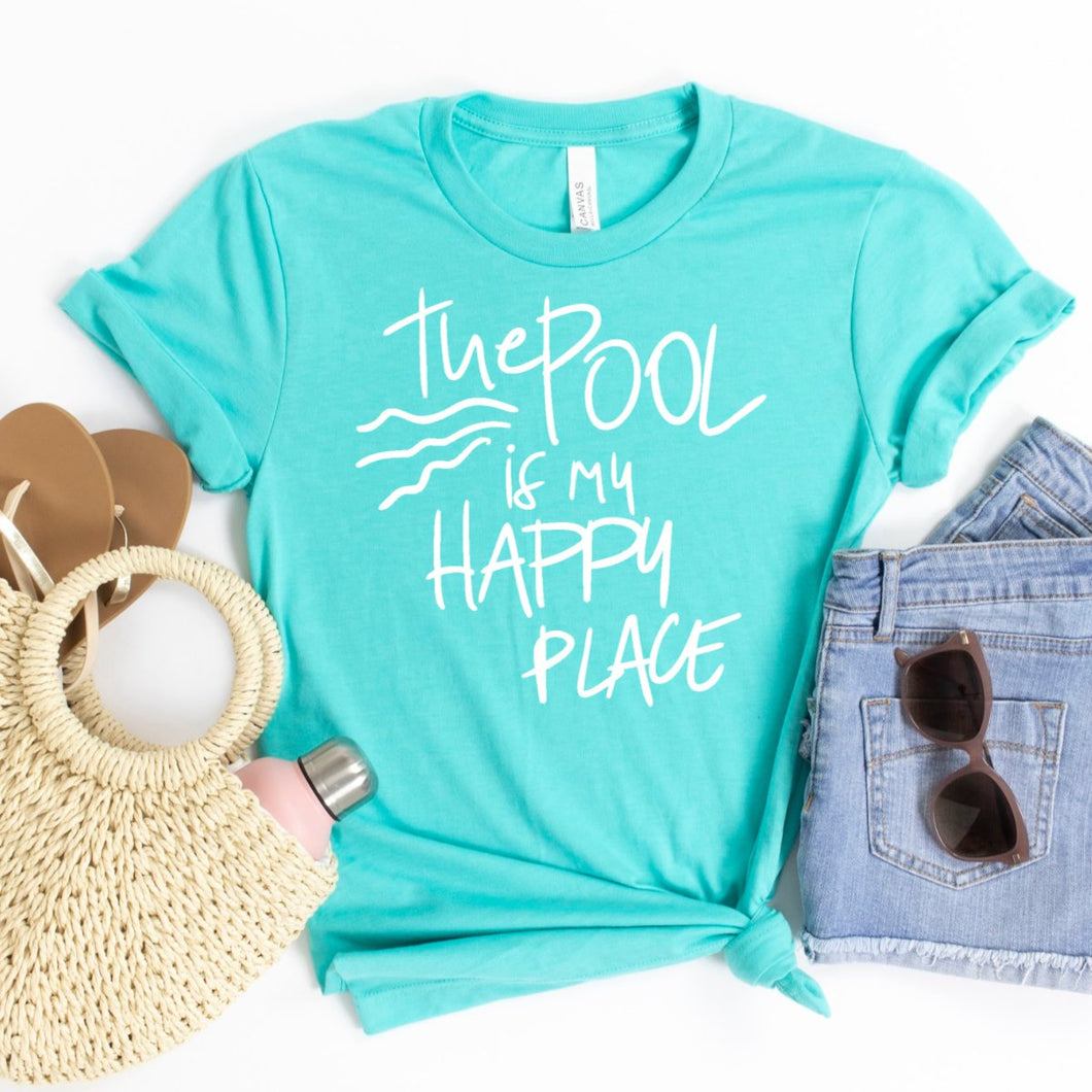 The Pool Is My Happy Place-Plus Sizes
