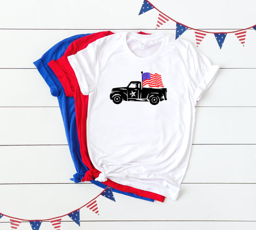 4th of July Graphic T_Shirt! Truck!