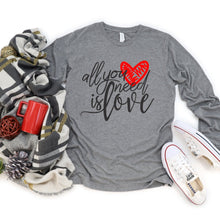 Long Sleeve: All You Need Is Love-Plus Sizes
