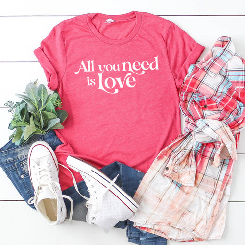 All You Need Is Love (White)-Plus Sizes