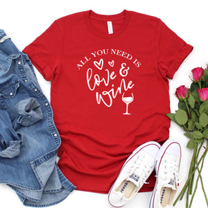 All You Need Is Love & Wine (White)-Plus Sizes