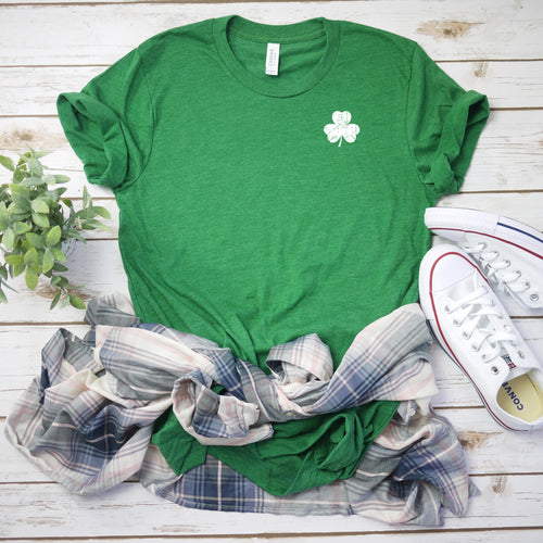 Sublimation Transfer- XSmall White Distressed Shamrock (Pack Of 1, 5, OR 10)