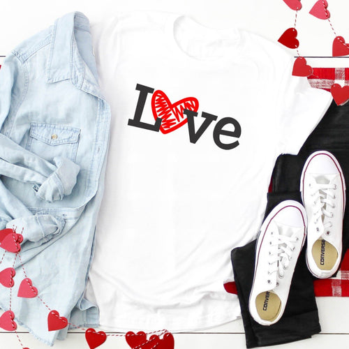 Black Love Red Heart-Plus Sizes