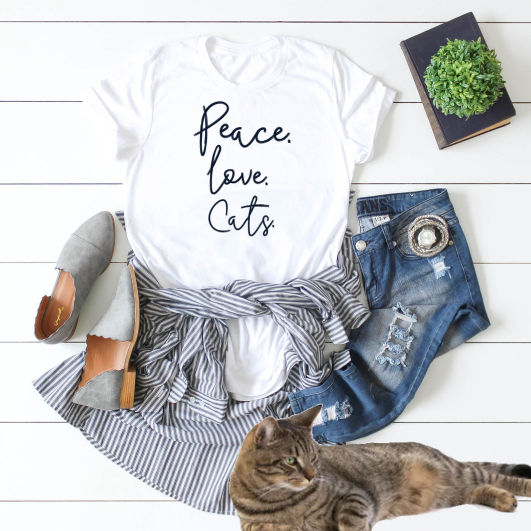 Peace. Love. Cats.-Plus Sizes