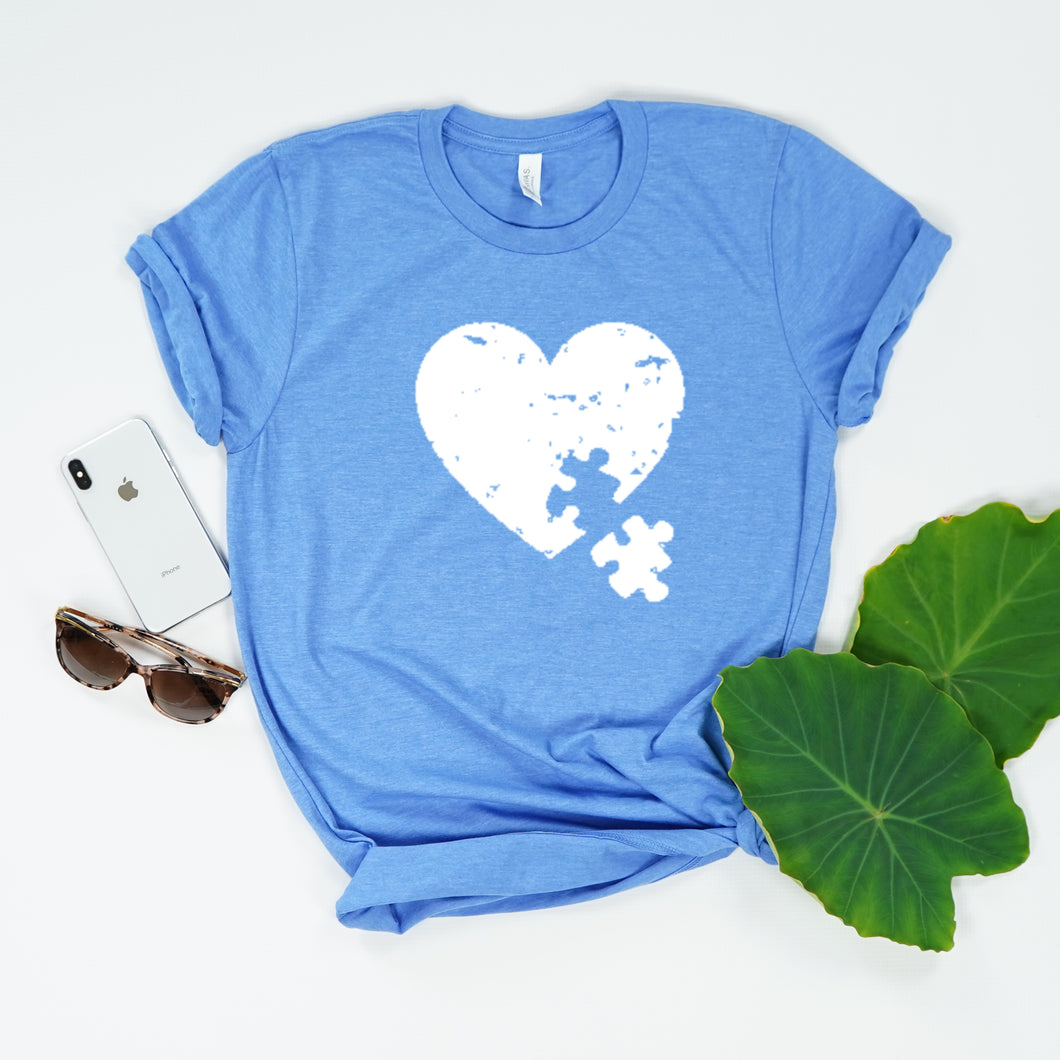 Heart Puzzle Piece- Autism Awareness