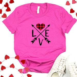Love With Crossed Arrows-Plus Sizes