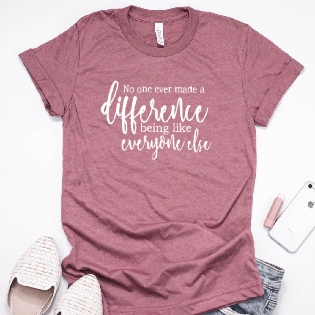 No One Ever Made A Difference Being Like Everyone Else-Plus Sizes