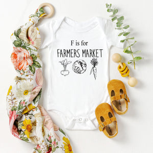 F is for Farmers Market Onesie