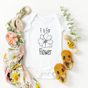 F is for Flower Onesie
