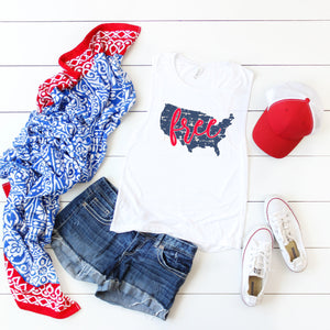 4th of July Graphic Tank! Free!