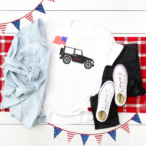 4th of July Graphic T_Shirt! Jeep!