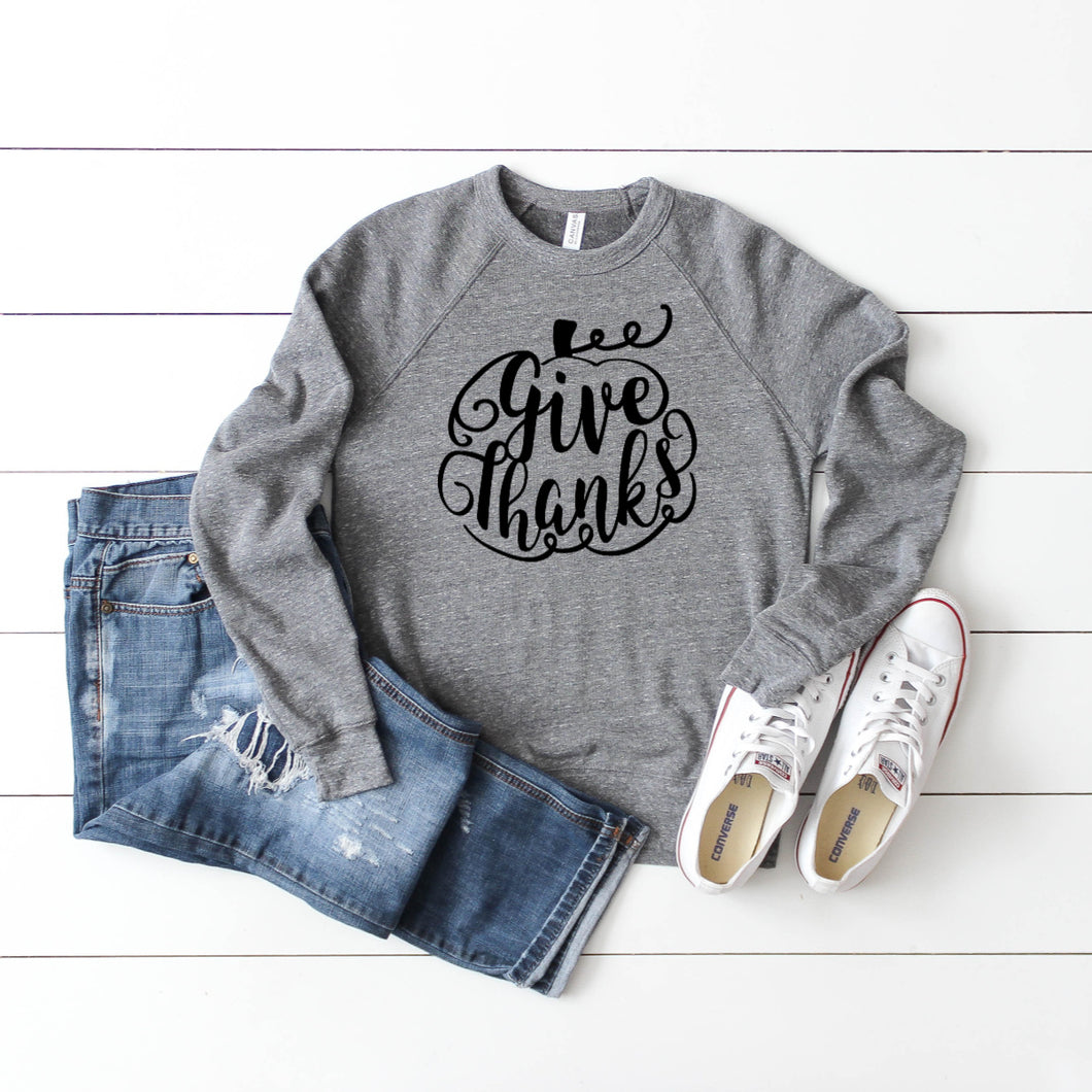 Give Thanks Crewneck Sweatshirt