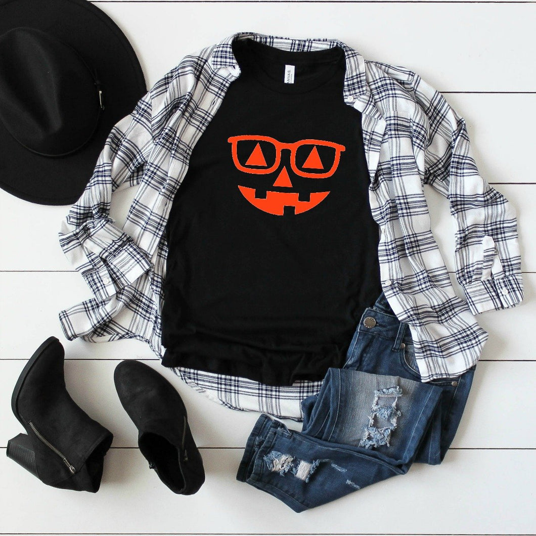 Hipster Pumpkin Orange-Plus Sizes