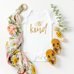 Bee Kind (gold) Onesie