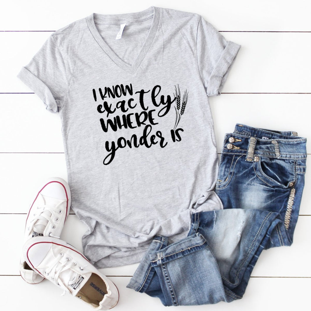 V-Neck: I Know Exactly Where Yonder Is-Plus Sizes