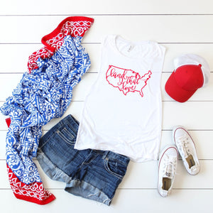 4th of July Graphic T_Shirt! Land That I Love!