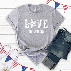 4th of July Graphic T_Shirt! Love My Country!